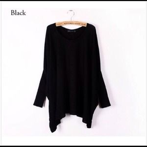 Oversized Black Dolman, lightweight sweater!