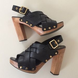 Tory Burch Shoes - Tory Burch Wooden Heeled Sandals sz 8