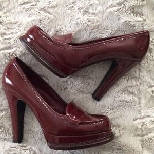Yves Saint Laurent Shoes - YSL burgunday penny loafer pumps 40