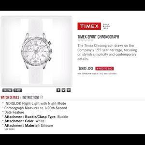 timex Jewelry - Timex white watch .!!!