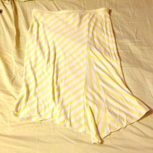 Yellow and White Striped Express Skirt