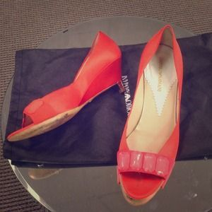 Emporio Armani Shoes - Emporio Armani Tangerine Low Wedges