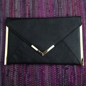 ASOS Metal Bar Detail Envelope Clutch