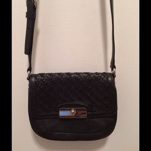 Coach Kristin Black Leather Crossbody Bag