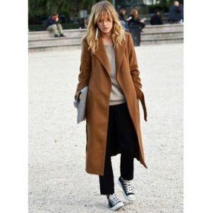 Vintage Brown Wool Coat 14P Petite