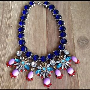 Cobalt Blue Crystal Statement Necklace ❤️