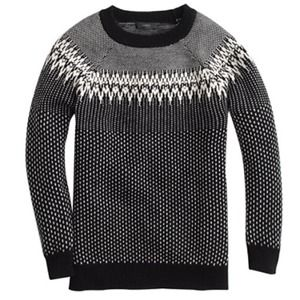 🌸SALE🌸J.Crew Fair Isle Black & White Sweater