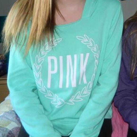 20% off Victoria's Secret Sweaters - Pink sweatshirt (in teal ...