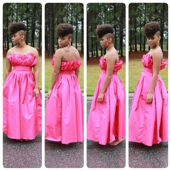 Dresses New Item Hot Pink 80s Inspired Prom Dress Poshmark