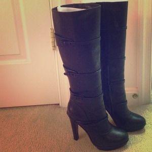 BCBG Maxazria black boots