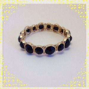 lonna & lilly Jewelry - •Black Gem Bracelet•
