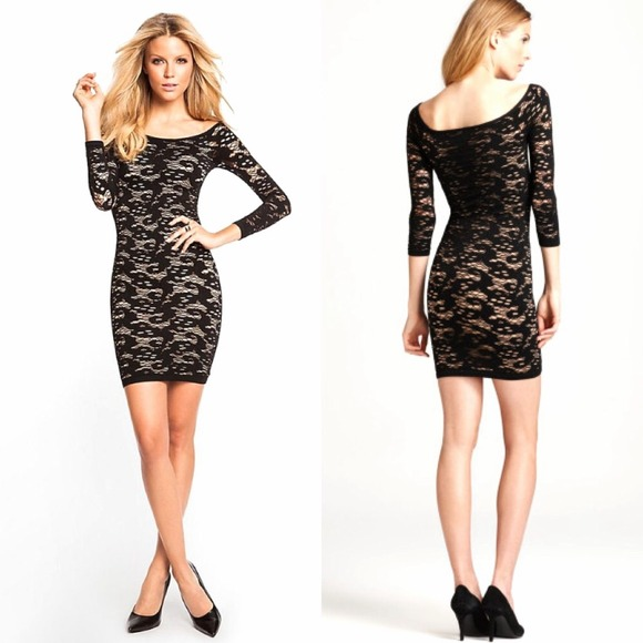 Guess dresses long sleeves wrap skirts
