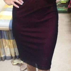 Vivienne Tam Dresses & Skirts - Vivienne Tam skirt size 4 black netting over red