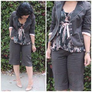 Rebecca Taylor Pinstripe Shorts Suit