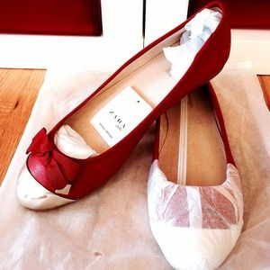 ***GONE***Zara leather ballerina flats
