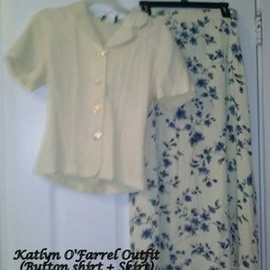 Other - Katlyn O'Farrel blouse and skirt (spring/summer)