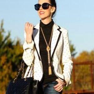 merona Jackets & Coats - 🎉HOST PICK NWT polka dot blazer blogger 4 1