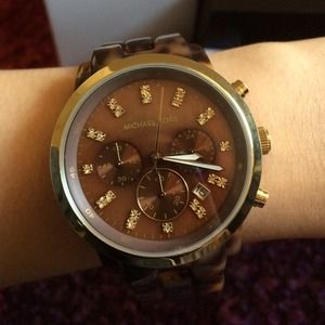 New Michael Kors tortoise watch