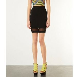 Topshop Dresses & Skirts - Topshop black mesh pencil skirt