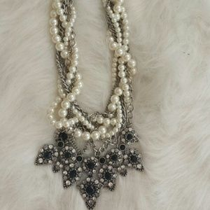 Zara Jewelry - Twisted Pearl Statement Necklace - Zara