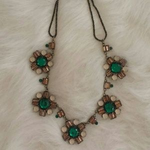 Cache Jewelry - Emerald Floral Statement Necklace