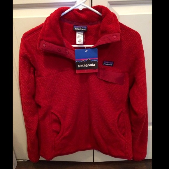 25% off Patagonia Outerwear - NWT red Patagonia slim fit snap t ...