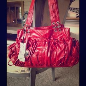 Junior Drake NWT RED Leather