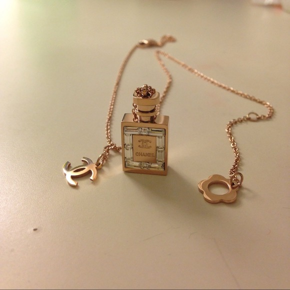 CHANEL Jewelry Rose Gold Plated N5 Perfume Bottle Necklace Poshmark