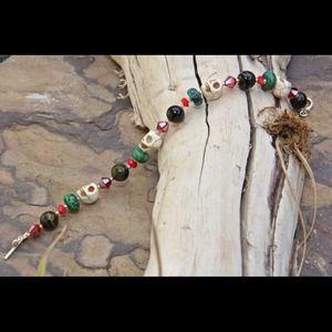Jewelry - Colorful gemstone bracelet.