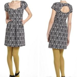 Anthro brocade print dress