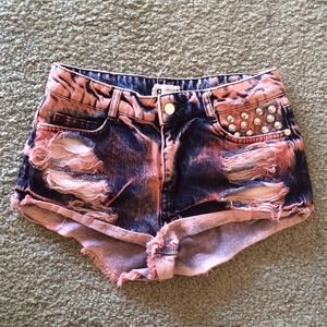 LF Studded Denim Shorts