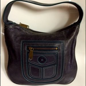 MARC JACOBS Vintage Charcoal Grey Shoulder Purse.