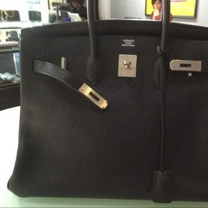 28% off Hermes Handbags - Hermes Etoupe Birkin 35 with Palladium ...