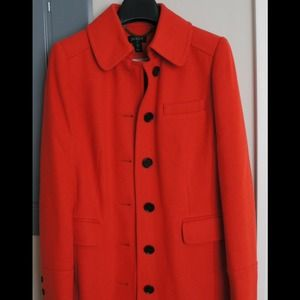 J. Crew Outerwear - RESERVED - JCrew orange coat perfect for spring!