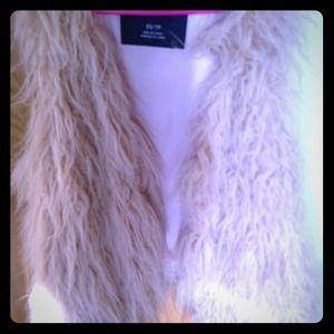 Lamb faux fur vest