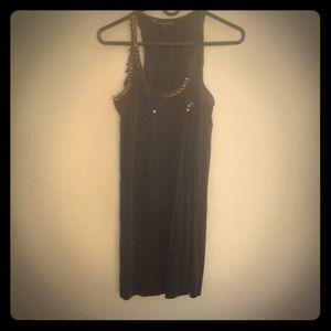 Black racerback dress