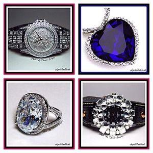 Jewelry - Statement Glam Crystal Jewelry & Watches