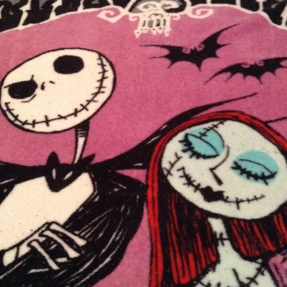 64% off Disney Other - Nightmare Before Christmas Fleece Blanket ...