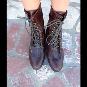 Urban outfitters We Who See brown lace up boots