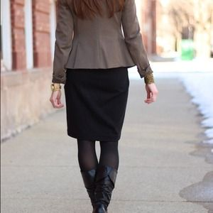 EXPRESS sateen pencil skirt.