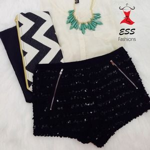 Pants - High waisted sequin shorts!
