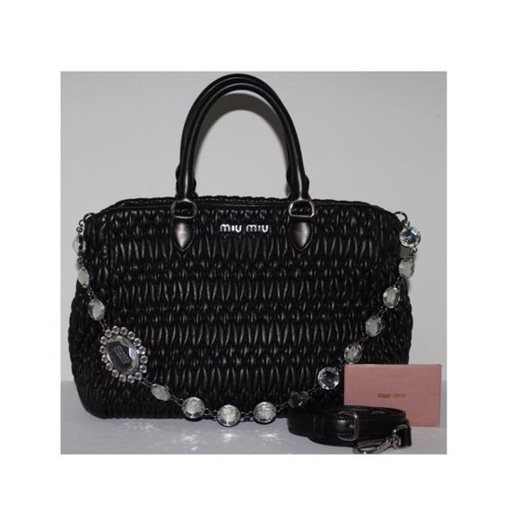 b54b0cd2c1db Miu Miu Nappa Cristal Handbag