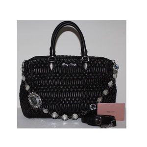Miu Miu Nappa Cristal Handbag