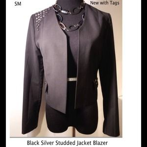 NWT Black Studded Jacket Blazer