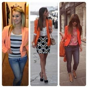 Poof Couture Jackets & Blazers - Bright orange blazer
