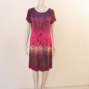 NWOT Calvin Klein Patterned Shirt Dress