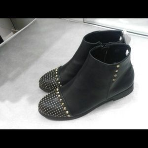 NEW!!! Gold studded black booties