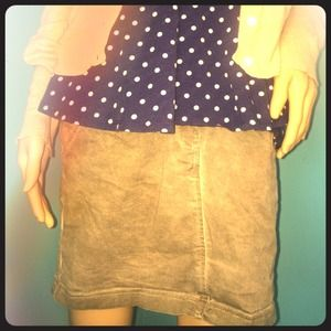 Stretchy Army Green Miniskirt