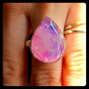 Jewelry - 💖Rare Pink Magic Moon Stone Ring💖