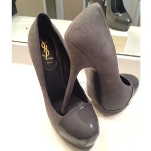Yves Saint Laurent Shoes - YSL GREY SHOES